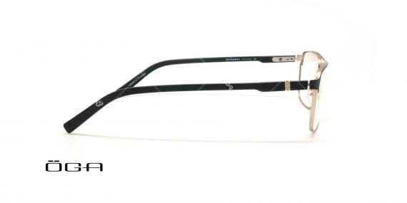 عینک طبی مربعی  اگا - OGA 10107O - مشکی طلایی - عکاسی وحدت - زاویه بقل