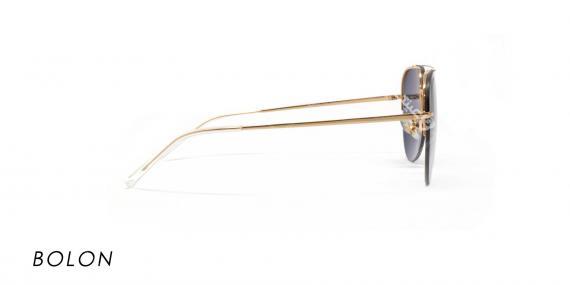 عینک مدل خلبانی بولون - BOLON7027- رنک طلایی و مشکی- عکاسی وحدت-عکس زاویه کنار