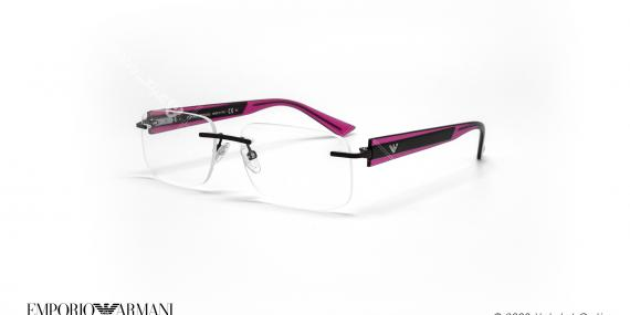 عینک طبی گریف امپریو آرمانی - Emporio Armani EA9656 - مشکی بنفش - عکاسی وحدت - زاویه سه رخ