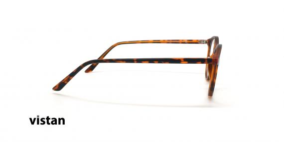 عینک آماده بلوکنترل گرد ویستان VISTAN OB0328 XL - قهوه ای هاوانا - عکاسی وحدت - زاویه کنار