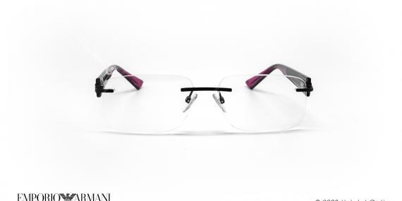 عینک طبی گریف امپریو آرمانی - Emporio Armani EA9656 - مشکی بنفش - عکاسی وحدت - زاویه روبرو