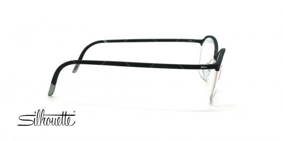 عینک طبی گربه ای سیلوئت - Silhouette1581 -مشکی نقره ای- عکاس وحدت - زاویه بقل