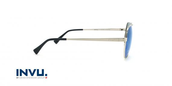 عینک آفتابی خلبانی اینویو - Invu M1802 - نقره ای - عکاسی وحدت - زاویه کنار