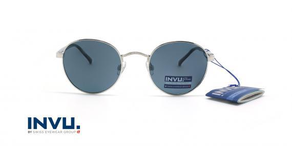 عینک آفتابی پلاریزه اینویو - INVU Polarized B1914 - نقره ای - عکاسی وحدت - زاویه روبرو