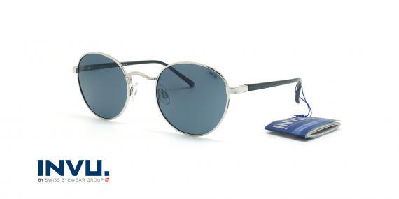 عینک آفتابی پلاریزه اینویو - INVU Polarized B1914 - نقره ای - عکاسی وحدت - زاویه سه رخ