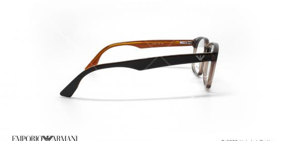 عینک طبی مستطیلی امپریو آرمانی - Emporio Armani EA9733 - قهوه ای - عکاسی وحدت - زاویه کنار