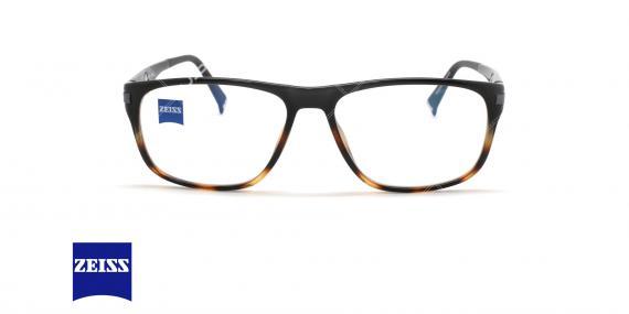عینک طبی کائوچویی زایس  - ZAISS ZS20006 -رنگ مشکی قهوه ای - اپتیک وحدت - عکس زاویه روبرو