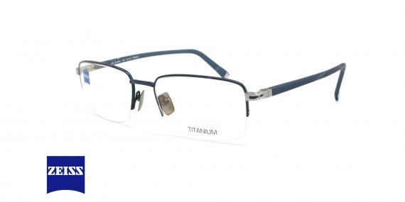 عینک طبی زیرگریف تیتانیومی زایس - ZEISS ZS40005 - رنگ سرمه ای - عکاسی وحدت - عکس زاویه سه رخ