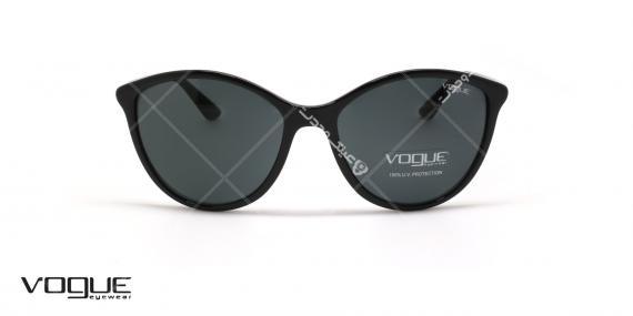 عینک آفتابی گربه ای وگ - VOGUE VO5165S - رنگ مشکی - عکاسی وحدت - عکس زاویه روبرو