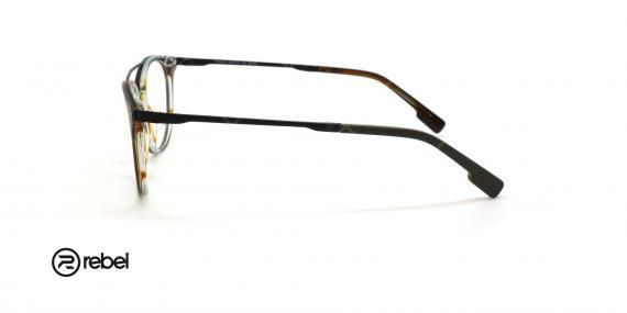 عینک طبی دو پل ربل - REBEL 70045R - رنگ فریم طوسی - عکاسی وحدت - عکس زاویه کنار