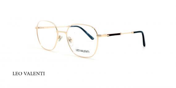 عینک طبی لئو ولنتی - LEOVALENTI LV444 - فریم طلایی - عکاسی وحدت - عگس زاویه سه رخ