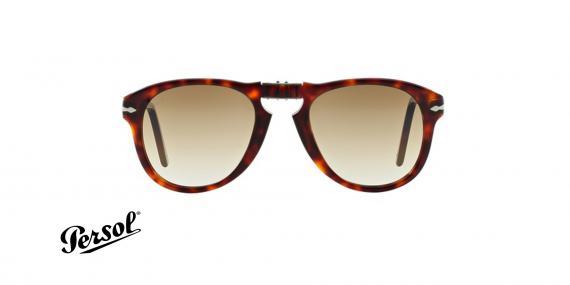 عینک آفتابی steve McQueen - تاشو - قهوه ای هاوانا - عدسی قهوه ای طیف دار - زاویه روبرو
