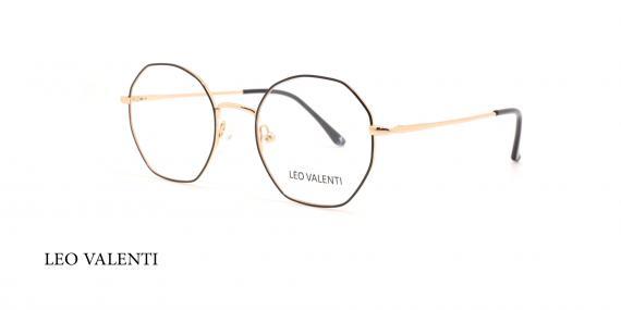 عینک طبی چندضلعی لئوولنتی - LEO VALENTI LV448 - عکاسی وحدت - عکس زاویه سه رخ