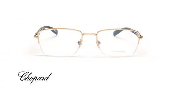 عینک طبی زیر گریف دسته چوبی شوپارد - CHOPARD VCHB54 - عکاسی وحدت - عکس زاویه روبرو