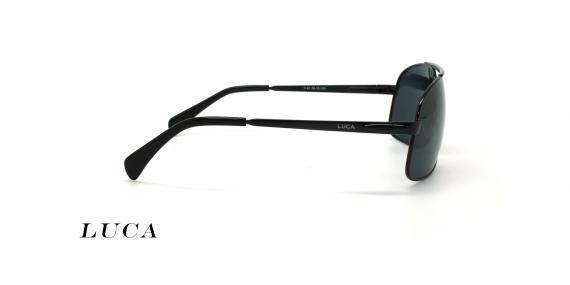 عینک آفتابی خلبانی لوکا - LUCA 1140 - رنگ مشکی- عکاسی وحدت - عکس زاویه کنار