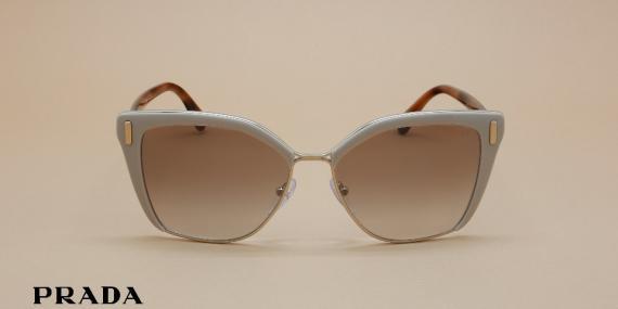 آفتابی پرادا مدل SPR56T - عکاسی وحدت - زاویه روبرو - قهوه ای شیری