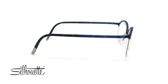 عینک طبی گربه ای سیلوئت - Silhouette1582 -سرمه ای- عکس وحدت - زاویه بقل