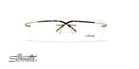عینک گریف بدون لولا سیلوئت - Silhouette TMA 5299 -طلایی قهوه ای - عکس وحدت - زاویه روبرو