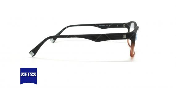 عینک طبی کائوچویی زایس ZEISS ZS10005 - مشکی قرمز - عکاسی وحدت - زاویه کنار