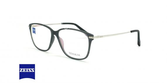 عینک طبی تیتانیوم زایس ZEISS ZS10009  - مشکی نقره ای - عکاسی وحدت - زاویه سه رخ