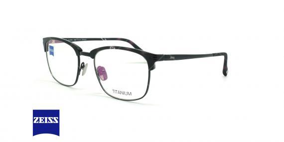 عینک طبی تیتانومی زایس ZEISS ZS30008 - مشکی - عکاسی وحدت - زاویه سه رخ