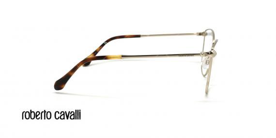 عینک طبی گربه ای روبرتو کاوالی - ROBERTO CAVALLI LUCIGNENO RC5065 - نقره ای - عکاسی وحدت - زاویه کنار