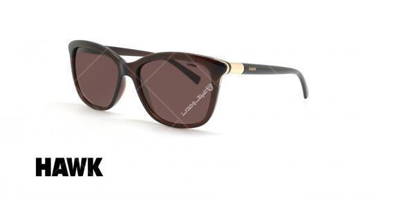 عینک آفتابی پولاریزه هاوک - HAWK POLARIZED HW1624 - قهوه ای - عکاسی وحدت - زاویه سه رخ