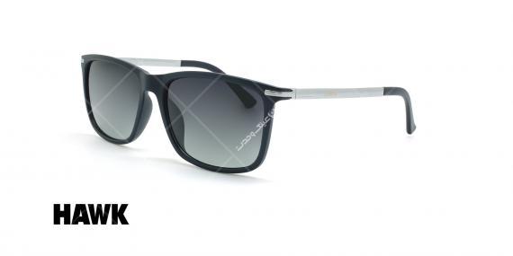 عینک آفتابی مربعی هاوک - HAWK HW1664 - مشکی - عکاسی وحدت - زاویه سه رخ