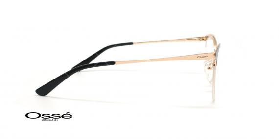 عینک طبی زیرگریف اوسه - Osse Os11901 - مشکی طلایی - عکاسی وحدت - زاویه کنار
