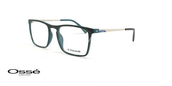 عینک طبی مستطیلی اوسه - Osse Os11976 - مشکی - عکاسی وحدت - زاویه سه رخ