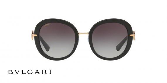 عینک آفتابی بولگاری پروانه ای مشکی رنگ - زاویه رو به رو