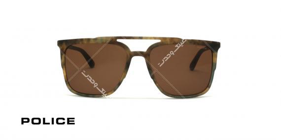 عینک آفتابی پلیس - POLICE SPL 363 - فریم قهوه ای هاوانا  - عکاسی وحدت - زاویه روبرو