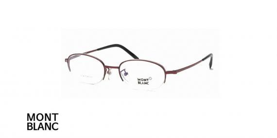 عینک طبی زیر گریف مونت بلانک - MONTBLANC MB95 - رنگ نقره ای - اپتیک وحدت - عکس زاویه سه رخ