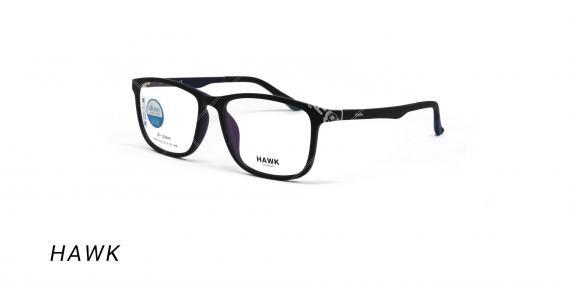 عینک طبی هاوک با رویه آفتابی - HAWK HW7232 - رنگ مشکی-عکس وحدت اپتیک - عکس زاویه سه رخ