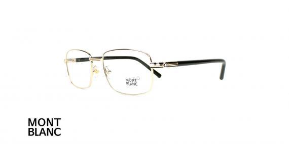 عینک طبی مونت بلانک - MONTBLAC MB530 - رنگ فریم طلایی- اپتیک وحدت - عکس زاویه سه رخ