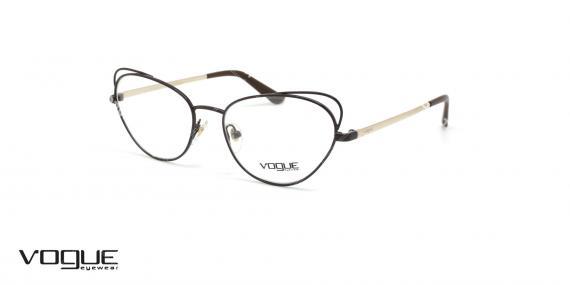 عینک گربه ای زنانه وگ - VOGUE VO4056 - رنگ مشکی و طلایی- عکاسی وحدت - عکس زاویه سه رخ
