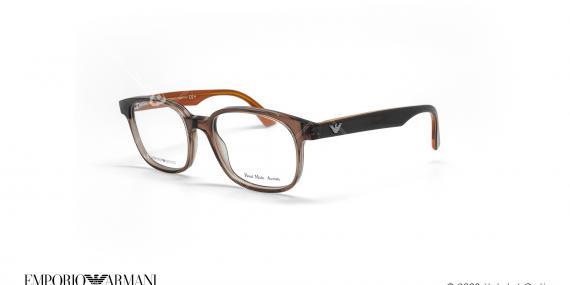 عینک طبی مستطیلی امپریو آرمانی - Emporio Armani EA9733 - قهوه ای - عکاسی وحدت - زاویه سه رخ