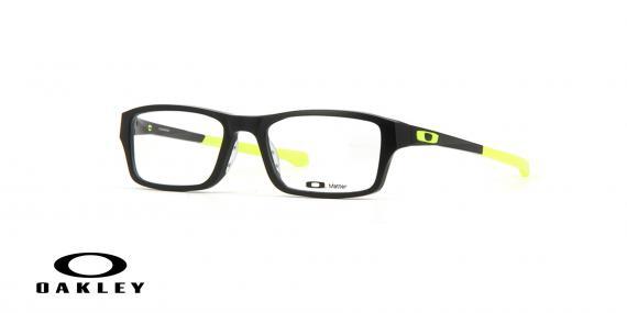 عینک طبی اوکلی - مشکی زرد - ویژه فروش آنلاین - زاویه سه رخ