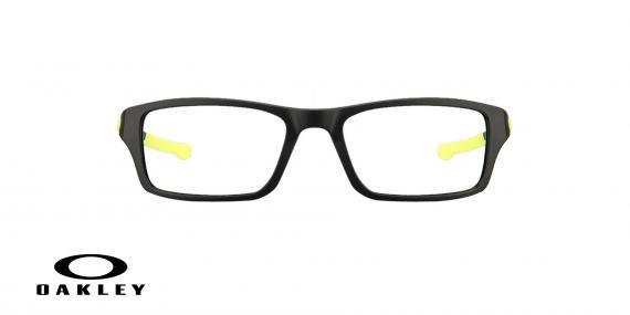 عینک طبی اوکلی - مشکی زرد - ویژه فروش آنلاین - زاویه رو به رو