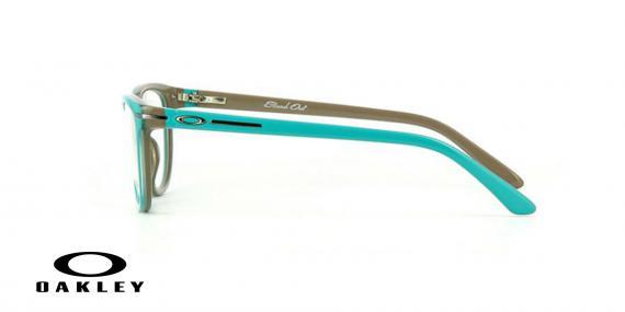 عینک طبی اوکلی - از داخل کرمی از بیرون آبی - ویژه فروش آنلاین - زاویه کنار