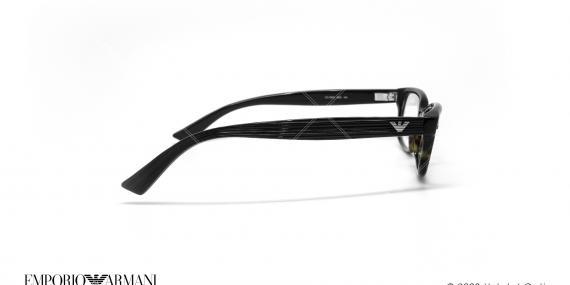 عینک طبی بیضی امپریو آرمانی - Emporio Armani EA9862 - مشکی هاوانا - عکاسی وحدت - زاویه کنار