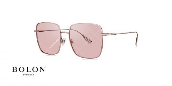 عینک آفتابی مربعی بولون - BOLON BL7090- رنگ طلایی و بنفش - عکاسی وحدت - عکس زاویه سه رخ