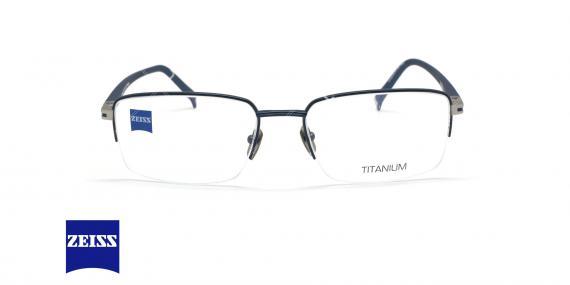 عینک طبی زیرگریف تیتانیومی زایس - ZEISS ZS40005 - رنگ سرمه ای - عکاسی وحدت - عکس زاویه روبرو