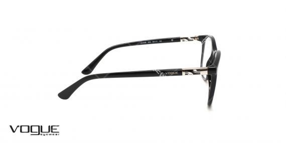عینک طبی کائوچویی وگ - VOGUE VO5168 - رنگ مشکی - عکاسی وحدت - عکس زاویه سه رخ