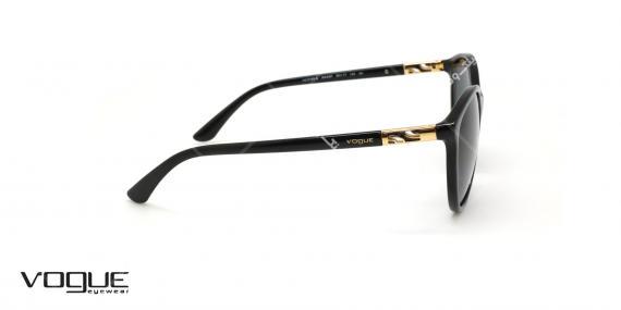 عینک آفتابی گربه ای وگ - VOGUE VO5165S - رنگ مشکی - عکاسی وحدت - عکس زاویه کنار