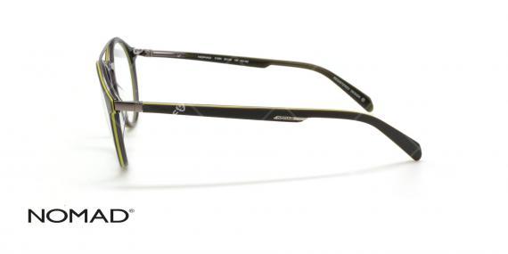 عینک گرد دوپل نوماد - NOMAD 3108N - فریم طوسی - عکاسی وحدت - عکس زاویه کنار