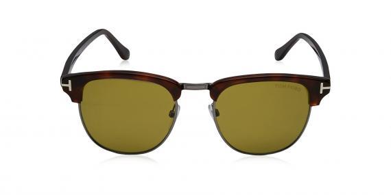 عینک آفتابی کلاب مستر شیشه سبز دسته قهوه ی ای تام فورد - خرید آنلاین - زاویه روبرو