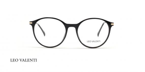 عینک طبی گرد لئو ولنتی - LEO VALENTI LV443 - عکاسی وحدت -  عکس زاویه رویرو