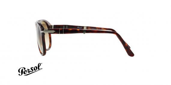 عینک آفتابی steve McQueen - تاشو - قهوه ای هاوانا - عدسی قهوه ای طیف دار - زاویه کنار