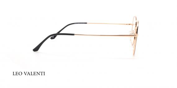 عینک طبی چندضلعی لئوولنتی - LEO VALENTI LV448 - عکاسی وحدت - عکس زاویه کتار